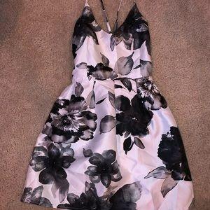 Crystal Doll b&w floral dress